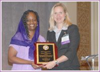 Mildred Muhammad with Cindy Dyer, Director of the Office on Violence Against Women